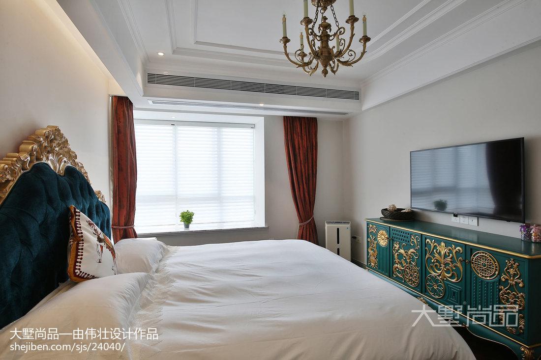 热门94平米三居卧室欧式装饰图片