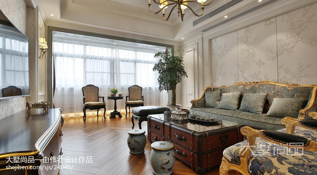 热门100平米三居客厅欧式效果图片大全