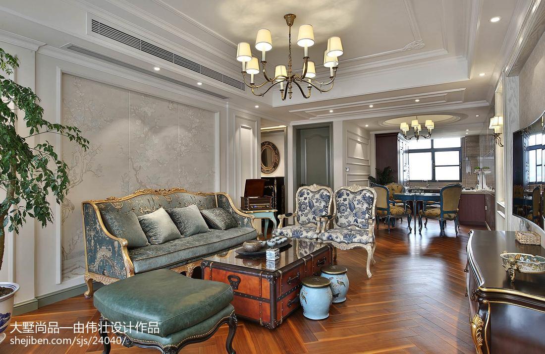 精美93平方三居客厅欧式装修效果图片欣赏