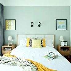 精美大小105平北欧三居卧室欣赏图片