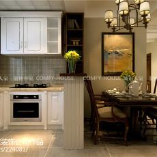 精美90平米三居厨房美式装修效果图片欣赏