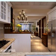 热门92平米三居厨房美式装修实景图片大全