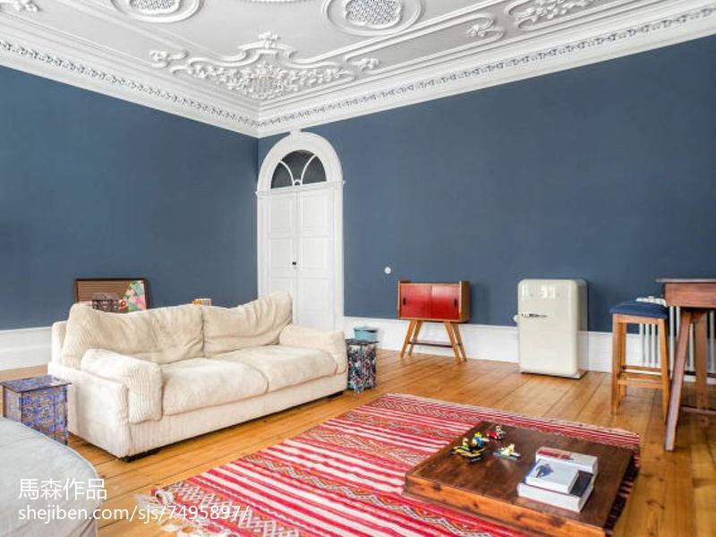 热门面积107平简欧三居客厅装修图片大全