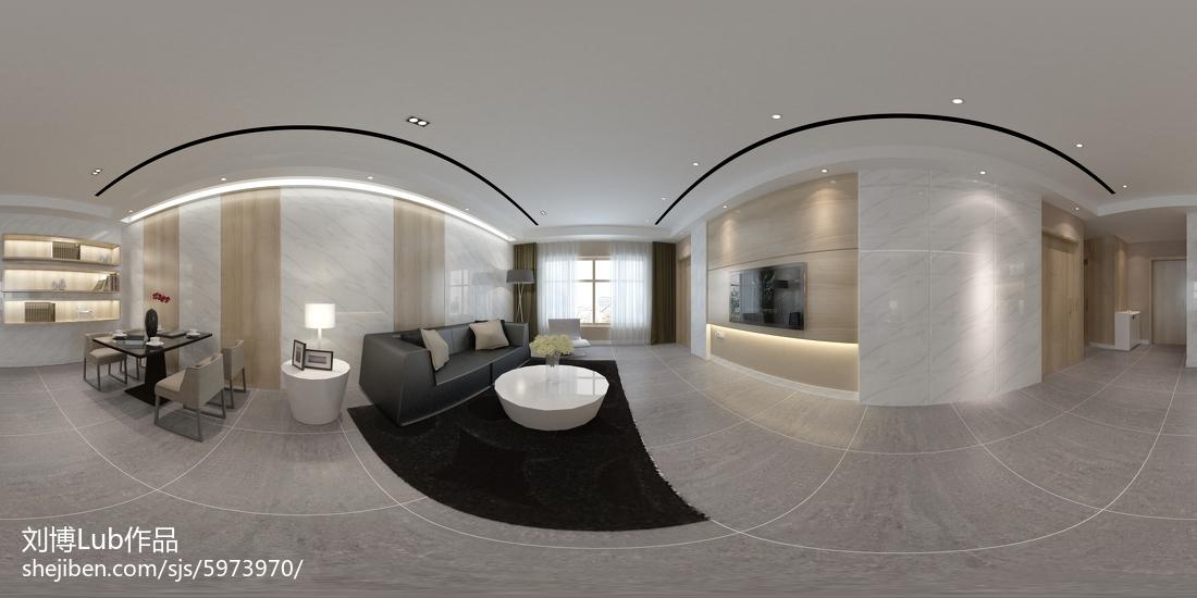 精选面积105平现代三居装修图片大全
