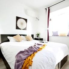 精美77平米二居卧室北欧装修实景图片