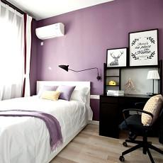 精美90平米二居卧室北欧设计效果图