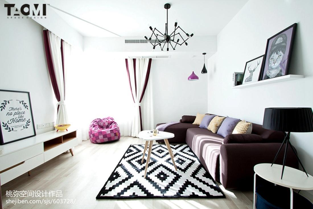 大气60平北欧二居客厅装修装饰图