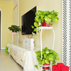 热门面积74平欧式二居客厅装饰图片大全
