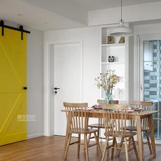 典雅107平北欧三居餐厅设计美图