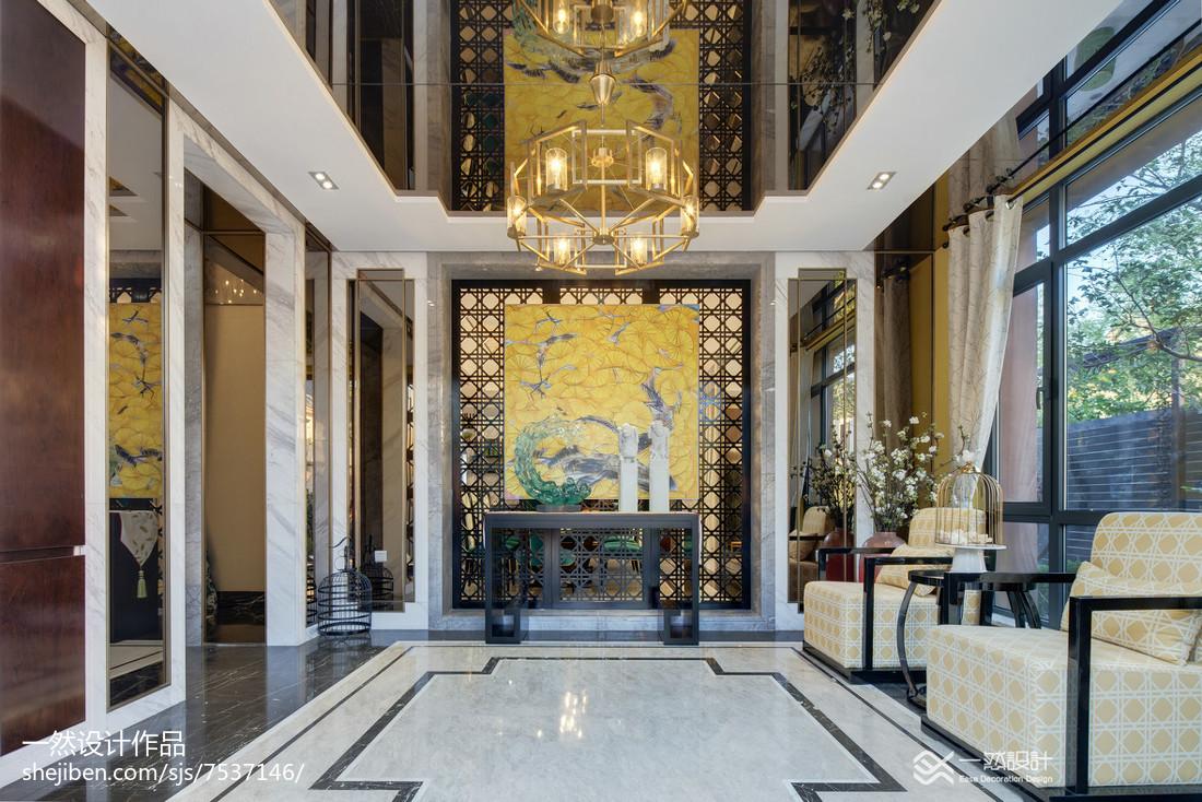 2018116平米中式别墅客厅装修设计效果图片