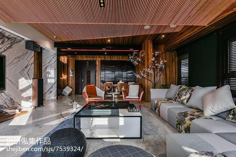 201898平米三居客厅中式实景图片欣赏