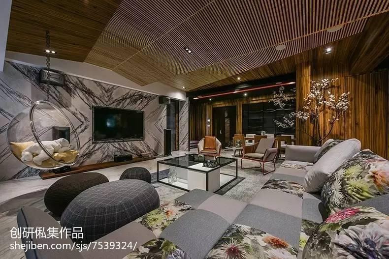 中式风格背景墙设计案例