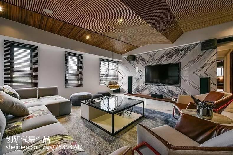 精选96平方三居客厅中式装修效果图片大全