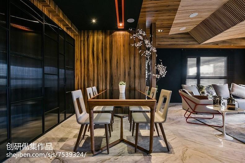 精美100平米三居餐厅中式实景图片欣赏