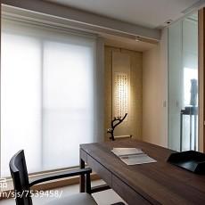 热门109平米三居书房现代装修图