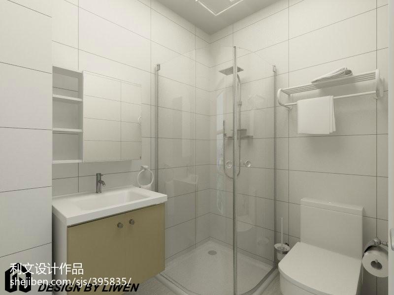 9万打造白色简约风格家居卫生间飘窗装修效果图大全2014图片