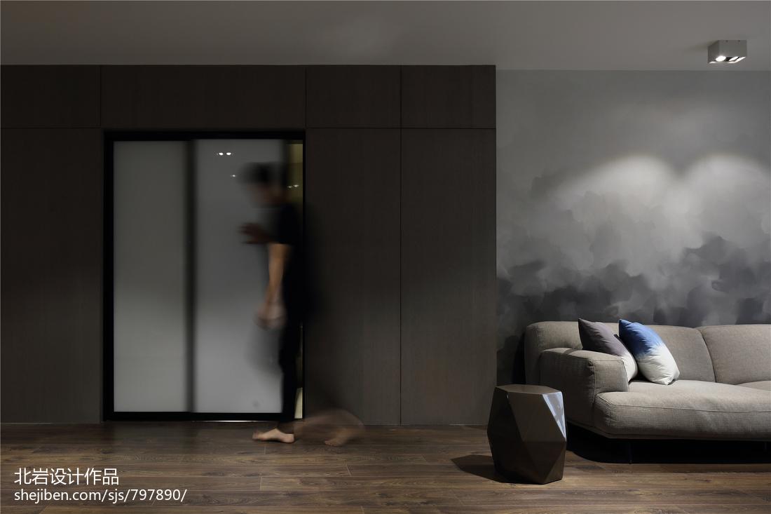 优美41平简约复式客厅实景图片