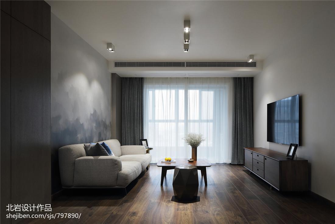 悠雅200平简约复式客厅设计美图