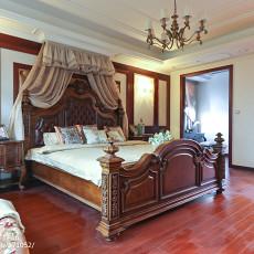 温馨619平美式别墅卧室布置图