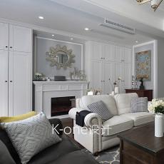 大气779平美式别墅客厅图片大全