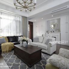 2018精选面积132平别墅客厅美式装修欣赏图片
