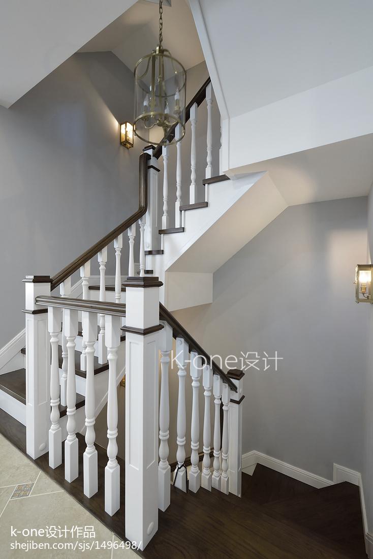 美式別墅樓梯設計案例