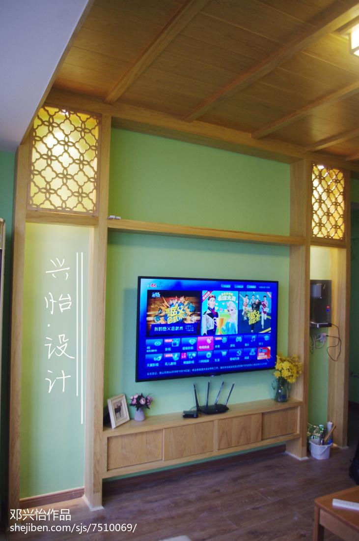 超酷的美式工业风电视背景墙装修效果图