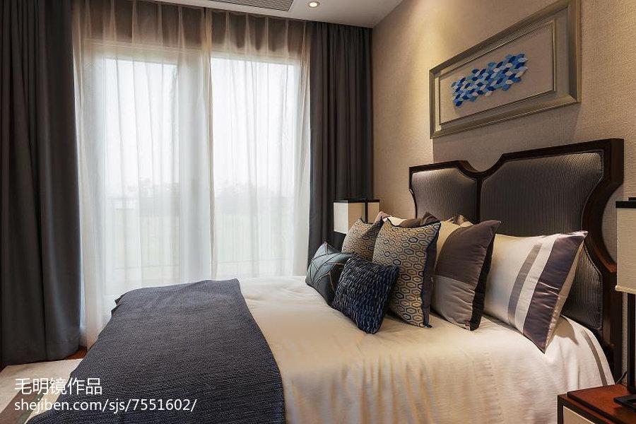 精美中式卧室实景图
