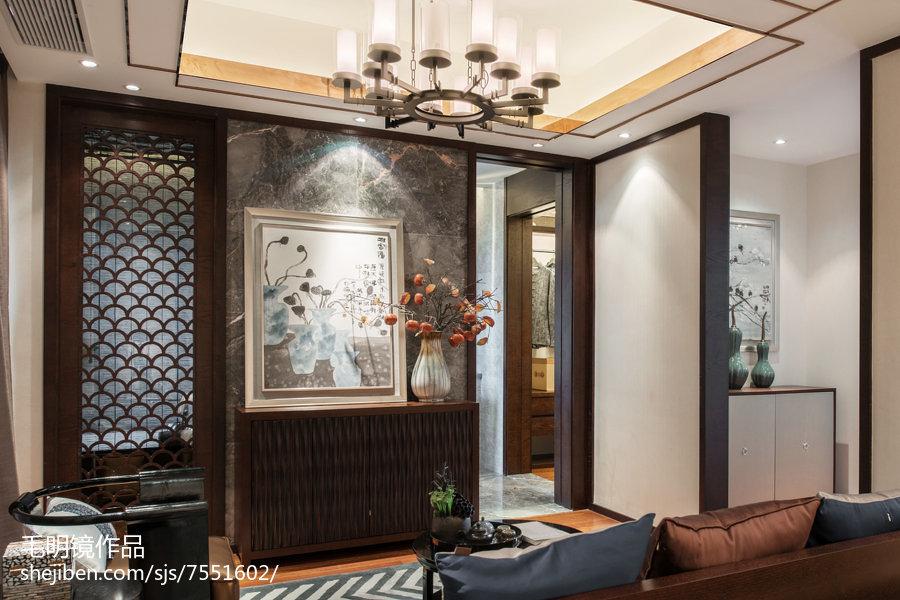质朴251平中式样板间休闲区设计案例