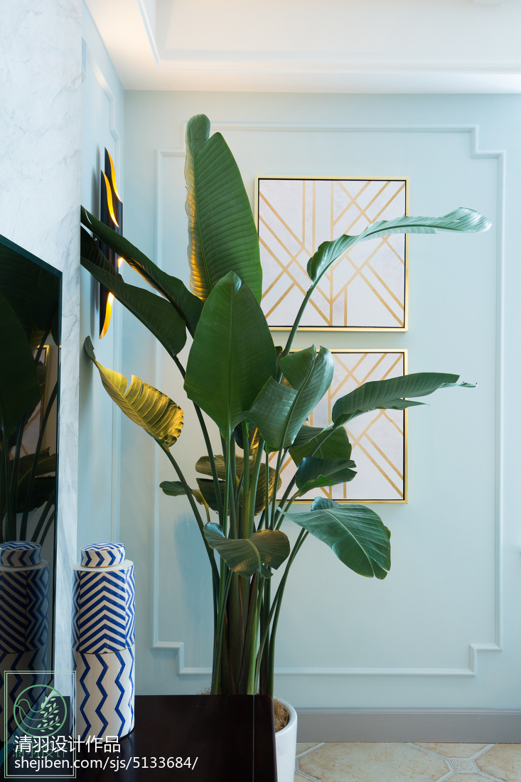 精选92平米三居客厅美式效果图片欣赏