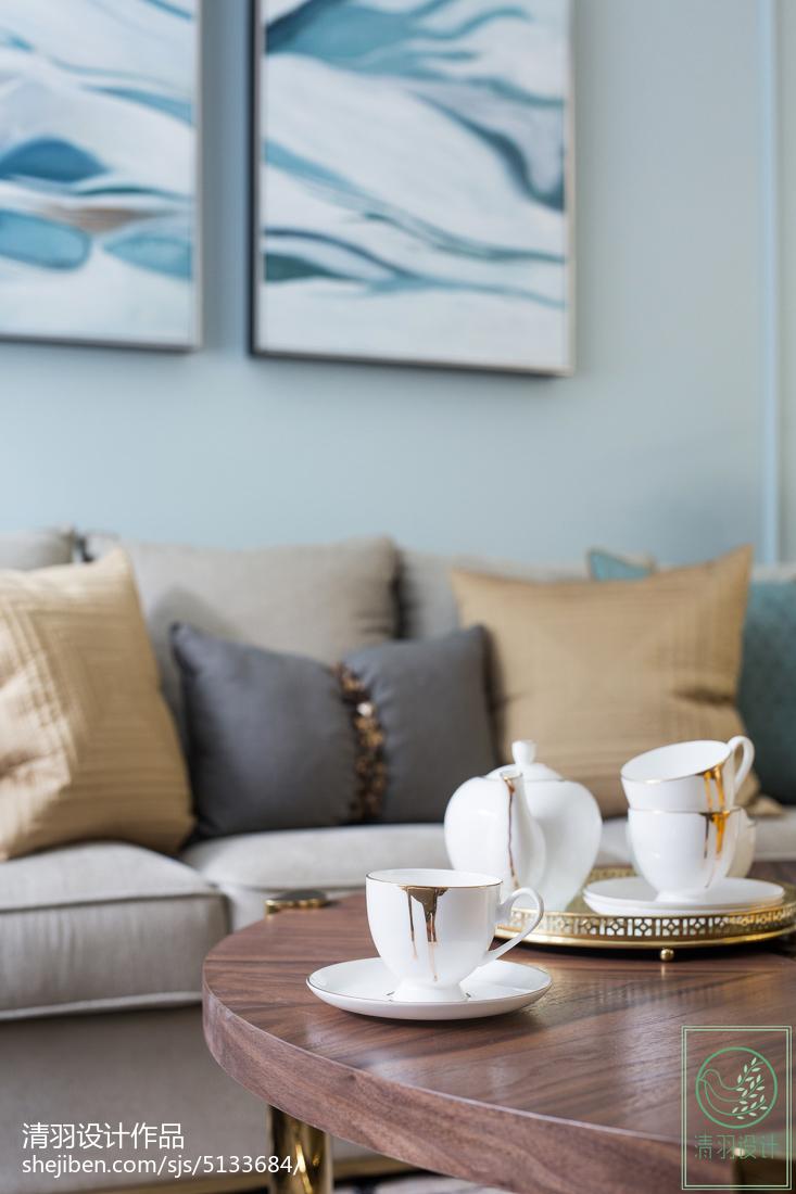 简洁91平美式三居客厅装饰图片