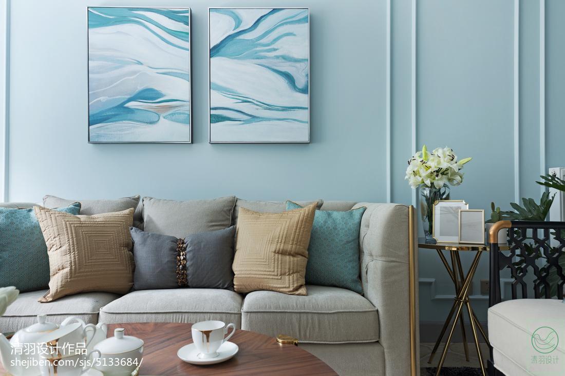 精美109平米三居客厅美式装修实景图片