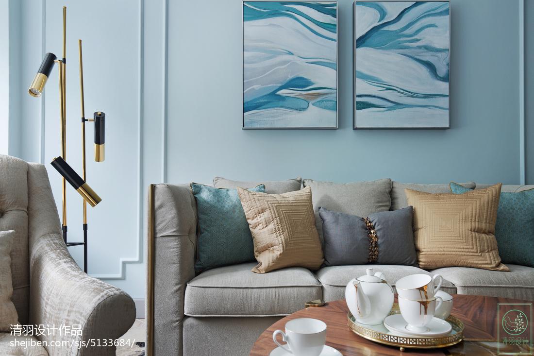 精选大小105平美式三居客厅装修效果图