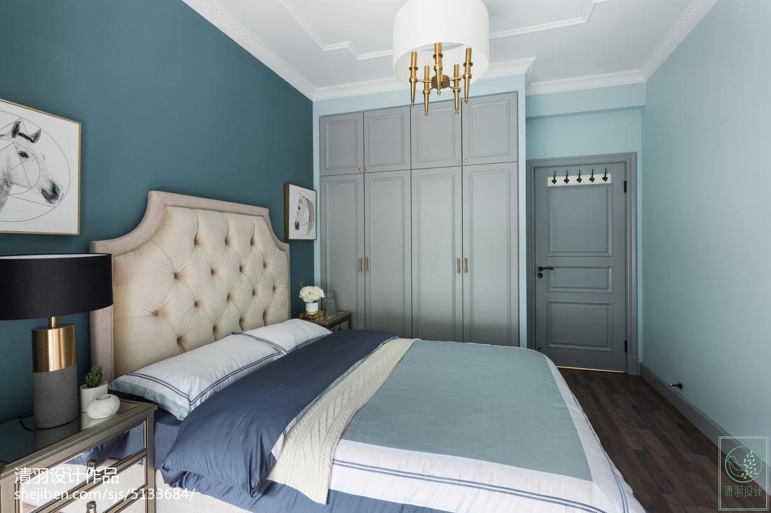 精选95平米三居卧室美式实景图片欣赏