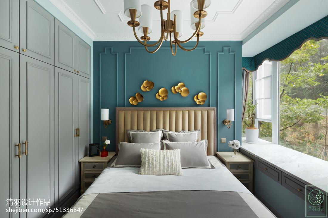 精选104平米三居卧室美式装修设计效果图片欣赏