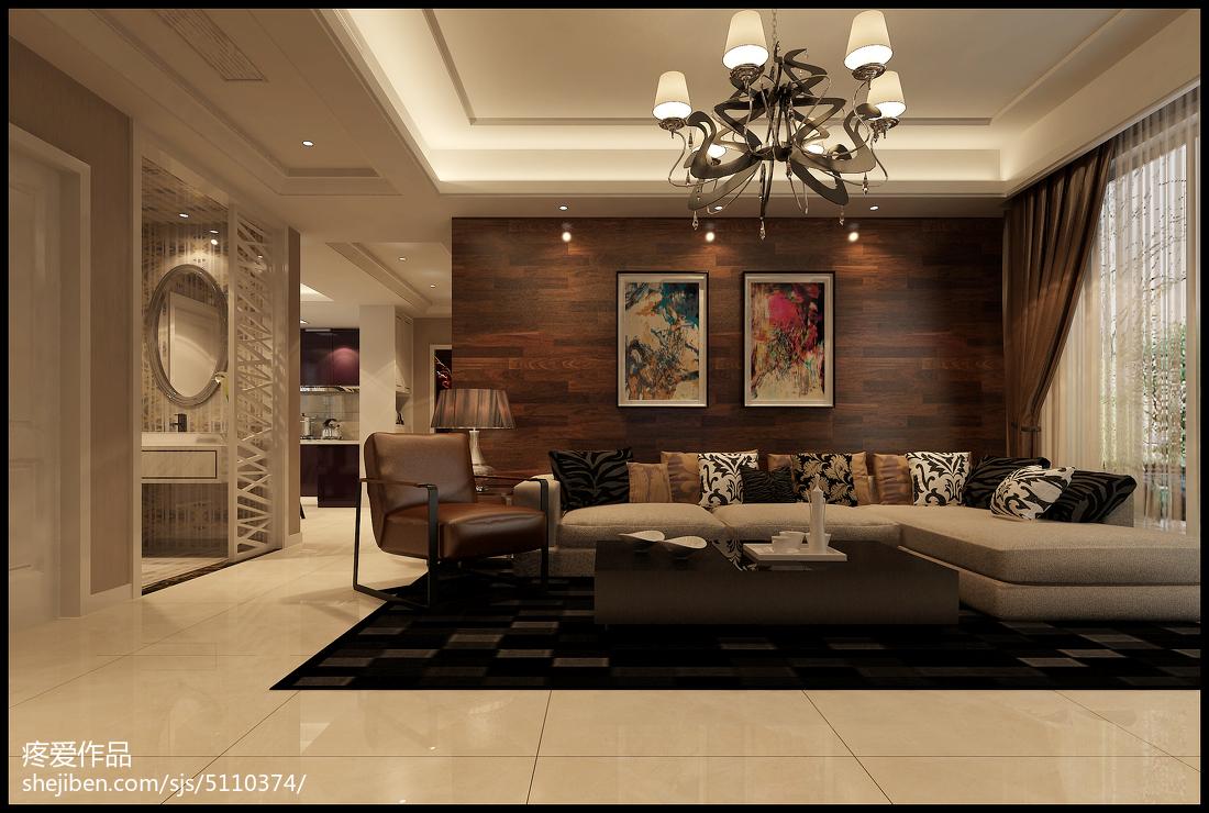 新古典时尚风三居室装修效果图