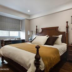 2018精选106平米三居卧室美式装修设计效果图片大全