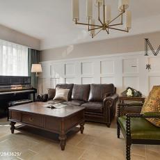 精美104平米三居客厅美式效果图