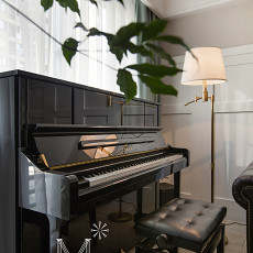 精美面积97平美式三居客厅装修设计效果图