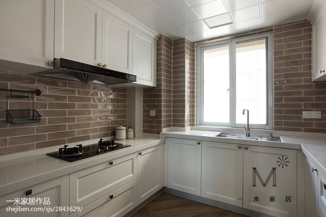 精美美式三居厨房装修效果图