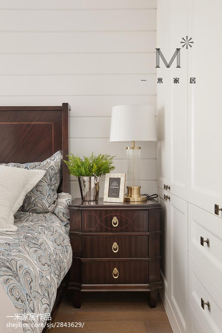 2018面积94平美式三居卧室装修设计效果图片欣赏
