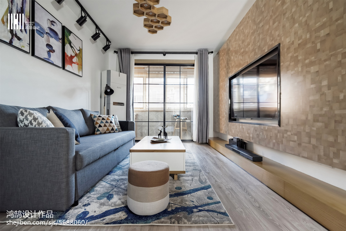 精美大小100平北欧三居客厅装饰图片
