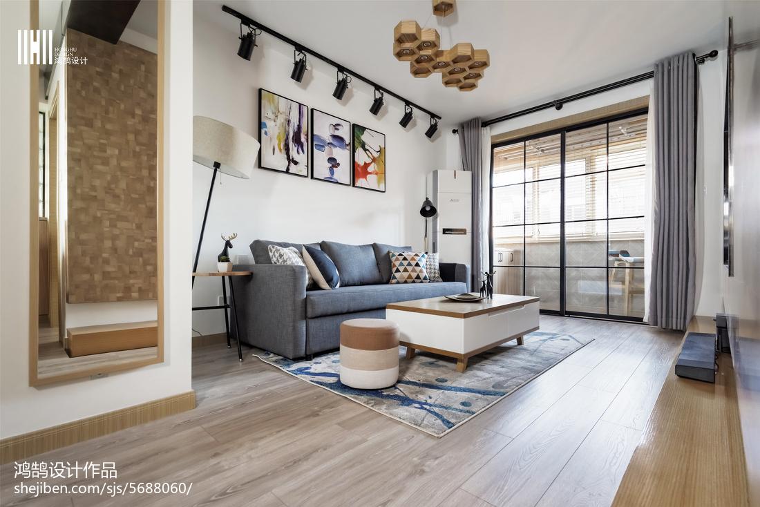 2018104平米三居客厅北欧装修效果图片欣赏