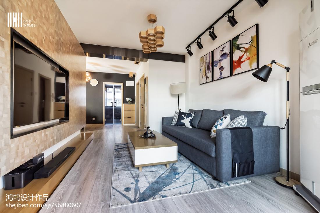 2018精选大小101平北欧三居客厅装饰图片
