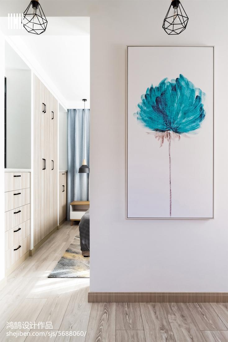 2018103平米三居卧室北欧装饰图片