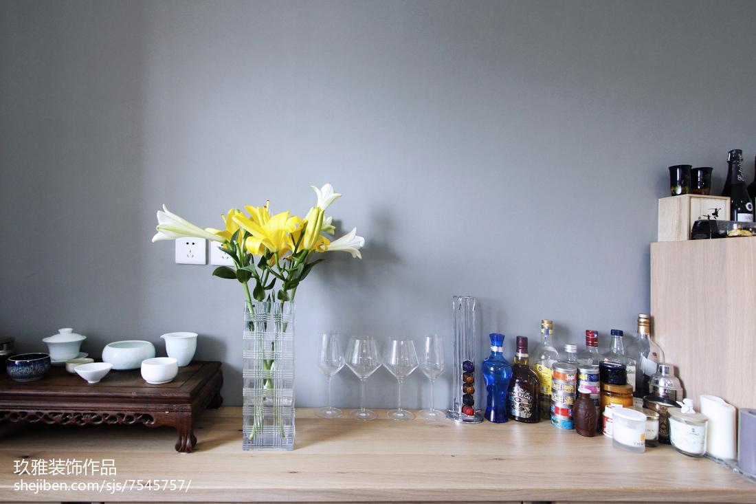 面积101平简约三居厨房装修实景图片欣赏