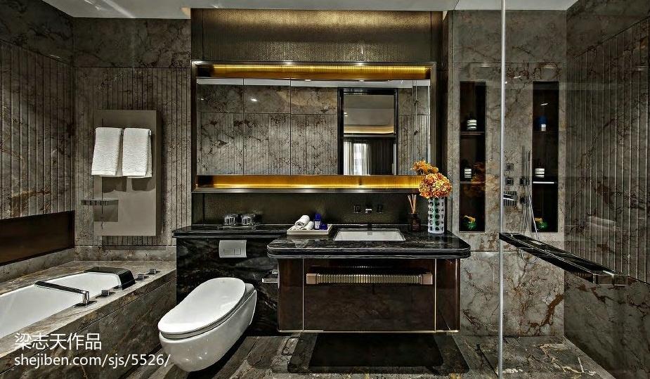 质感混搭风格样板房卫浴设计