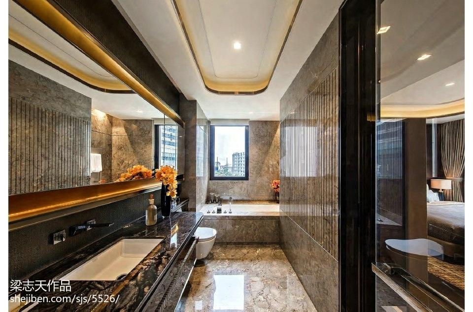 樣板房混搭風格衛浴設計