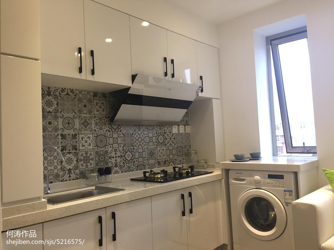 2018精选面积87平宜家二居客厅装修实景图