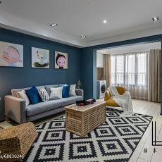 2018精选85平方二居客厅现代装修设计效果图片欣赏